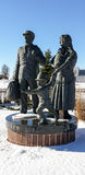 Statue von Immigranten im Park Stockfoto