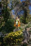 Statue von Inca Stairs am Eingang von Yumani-Dorf in Isla del Sol auf Titicaca See - Bolivien Lizenzfreies Stockbild