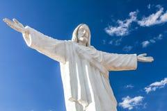 Statue von Jesus Christ in Cusco, Peru, Südamerika Ausführliche Ansicht lizenzfreie stockfotos