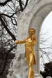 Statue von Johann Strauss im stadtpark in Wien, Österreich Lizenzfreies Stockfoto