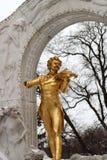 Statue von Johann Strauss im stadtpark in Wien, Österreich Stockfotografie
