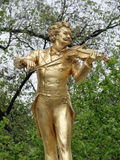 Statue von Johann Strauss in Stadtpark Lizenzfreie Stockfotografie