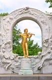 Statue von Johann Strauss in Wien Stockfoto