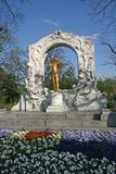 Statue von Johann Strauss in Wien Stadtpark Lizenzfreie Stockbilder