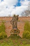 Statue von Johannes von Nepomuk in Prag Stockbilder