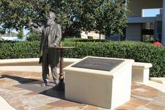 Statue von John Pemberton bei Coca Cola Museum, Atlanta, GA stockbild