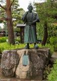 Statue von jungen Samurais Stockbild