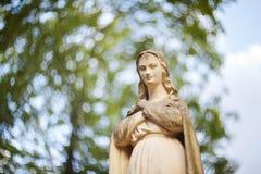 Statue von Jungfrau Maria Stockbilder