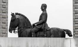 Statue von König Albert I Stockfotos