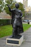 Statue von König Ethelbert Stockfotografie