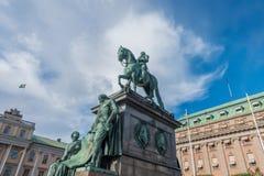 Statue von König Gustav II Adolf Stockbilder