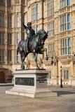 Statue von König Richard I, Palast von Westminster, London Lizenzfreie Stockbilder