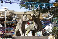 Statue von Kojoten in Coyoacan stockfotografie