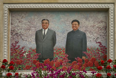 Statue von koreanischen revolutionären Kämpfern in Samjiyon Stockfotografie