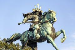 Statue von Kusunogi Masashige in Tokyo stockfoto
