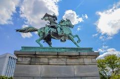 Statue von Kusunoki Masashige At Tokyo Japan Lizenzfreie Stockfotografie