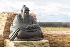 Statue von Laozi (Lao-Tzu) stockfotos