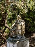 Statue von Lord Byron im Achillieon-Palast auf der Insel von Korfu Griechenland errichtet von der Kaiserin Elizabeth von Österrei Lizenzfreies Stockfoto