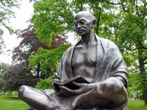 Statue von Mahatma Gandhi, Genf, die Schweiz Lizenzfreie Stockfotografie