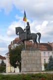 Statue von Mihai das tapfere in Targu-Mures, Rumänien Stockfotos