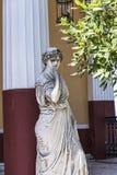 Statue von Musen auf der Terrasse am Achilleions-Palast auf der Insel von Korfu Griechenland errichtet von der Kaiserin Elizabeth Stockbilder