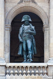 Statue von Napoleon Bonaparte in Paris, Frankreich Stockfotografie