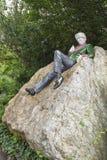 Statue von Oscar Wilde in Dublin. Stockbilder