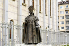 Statue von Papst John Paul II in Bulgarien, Sofia Stockfotografie