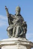 Statue von Papst Paul V., Rimini Lizenzfreies Stockfoto
