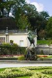 Statue von Pegasus die Mirabell-Gärten in Salzburg Österreich Stockfotos