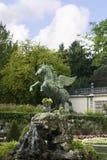 Statue von Pegasus die Mirabell-Gärten in Salzburg Österreich Lizenzfreie Stockbilder