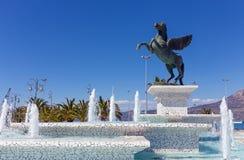 Statue von Pegasus, Korinth, Peloponnes, Griechenland Lizenzfreie Stockbilder