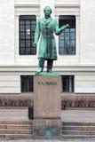 Statue von Peter Andreas Munch in Oslo, Norwegen lizenzfreie stockbilder