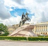 Statue von Peter der Große Stockbild