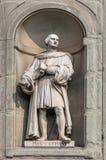 Statue von Pier Capponi in Uffizi-Gasse in Florenz, Italien Lizenzfreie Stockfotografie