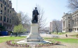 Statue von Pierre Laciede Founder von St. Louis, Missouri Stockfotos