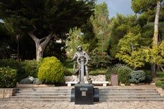 Statue von Prinzen Albert I in St. Martin Gardens, Monaco-Ville Stockbilder