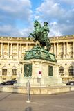 Statue von Prinzen Eugene vor Hofburg-Palast, Wien, Österreich stockfoto