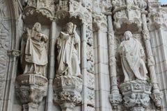Statue von Propheten und von Heiligen Stockfotos