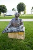 Statue von Ray Charles in Montreux Lizenzfreies Stockbild
