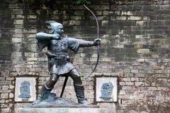 Statue von Robin Hood Lizenzfreie Stockfotos