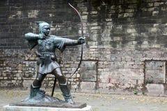 Statue von Robin Hood Lizenzfreie Stockfotografie