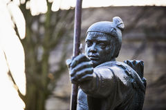 Statue von Robin Hood Lizenzfreie Stockbilder