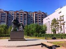 Statue von Saken Seifullin Stockfoto