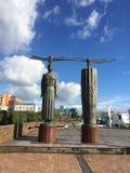 Statue von Semiotik Lizenzfreies Stockfoto