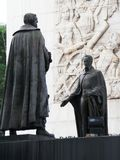 Statue von Simon Bolivar und von anderen Helden von Unabhängigkeit, Unabhängigkeits-Monument, Los Proceres, Caracas, Venezuela stockfoto
