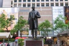 Statue von Sir Thomas Jackson auf Statuen-Quadrat, Hong Kong lizenzfreie stockbilder