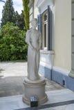 Statue von Sissi in Achilleions-Palast in Gastouri, Korfu-Insel in Griechenland Lizenzfreie Stockbilder