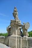 Statue von St Anna in Kutna Hora, Tschechische Republik Lizenzfreie Stockbilder