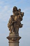 Statue von St Anna in Prag Stockbild